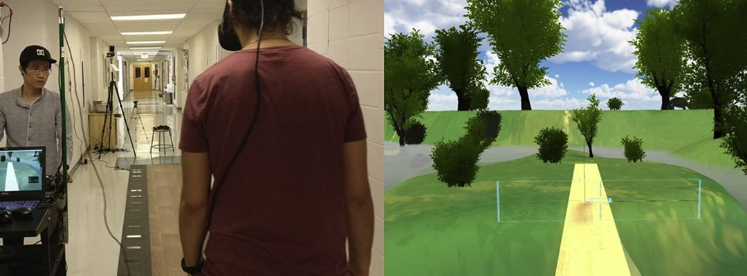 Zeno Walkway and PKMAS Used In Study of Visuomotor Adaptations While Wearing a VR Headset